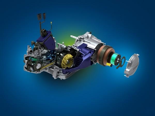 Δύο κινητήρες, δύο τεχνολογίες συνδυάζει το Piaggio MP3 Hybrid, που παρουσιάστηκε το 2009. Ηλεκτρικός κινητήρας και κινητήρας εσωτερικής καύσης μαζί, σε ένα υβριδικό δέσιμο