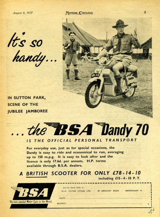 BSA Dandy 1957