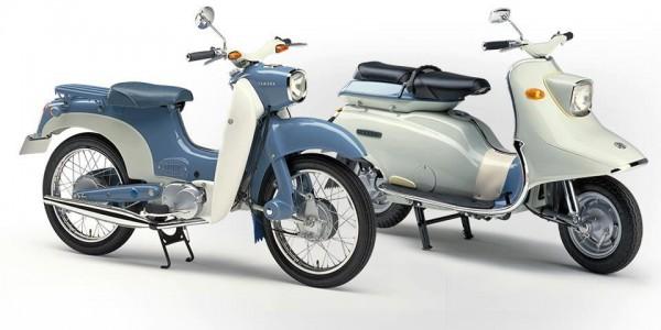 Σκουτερο-μοτοποδήλατο MF-1 αριστερά και καθαρόαιμο σκούτερ SC-1 δεξιά