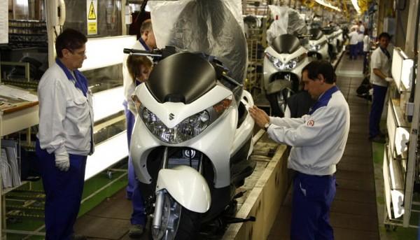 Γραμμή παραγωγής για τα Suzuki Burgman 125 και 200 που φτιάχνονταν στην Ισπανία