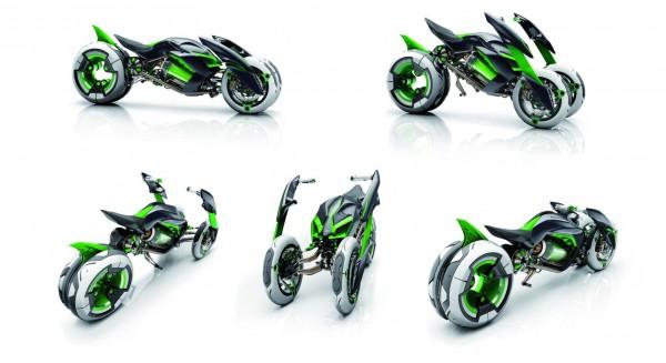To Kawasaki J Concept που παρουσιάστηκε πρόσφατα στο Τόκιο, ίσως και να δείχνει κάποιες τεχνολογικές τάσεις που θα ακολουθήσει η εταιρία