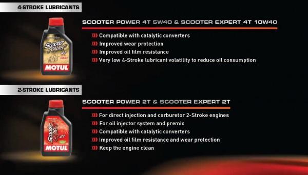 Εξειδικευμένα και ειδικά σχεδιασμένα για τις ανάγκες των σκούτερ είναι τα λιπαντικά της Motul