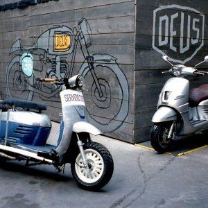 PEUGEOT LE DERNY, DEUS: Cafe Racer… scooter