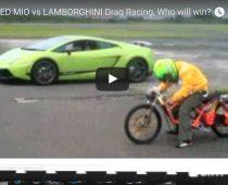 "VIDEO: Scooter ""καταπίνει"" στην ευθεία μια Lamborghini!"