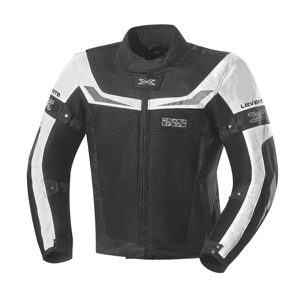 Καλοκαιρινό μπουφάν της IXS (σε άσπρο – μαύρο) φτιαγμένο από διάτρητο  ύφασμα για χρήση ακόμα και τις ζεστές μέρες. c3646a5f6b6