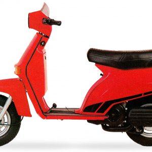 ΙΣΤΟΡΙΑ: BENELLI S50, S125 (1981-1984). Μπροστά από την Piaggio